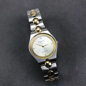 Vintage fossil gold silver arkitekt ladies watch
